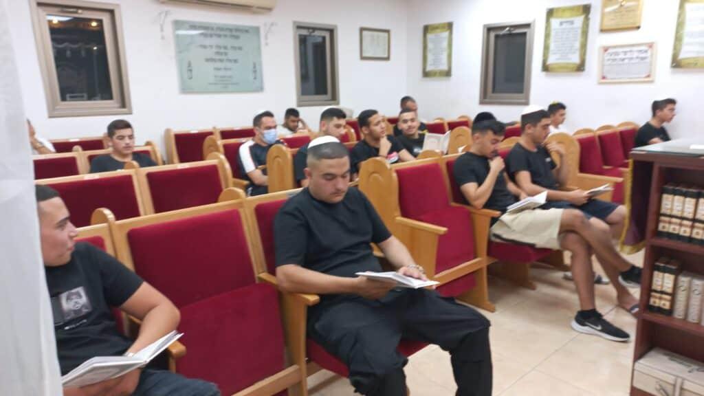 Moshav Aderet boys at Selichot